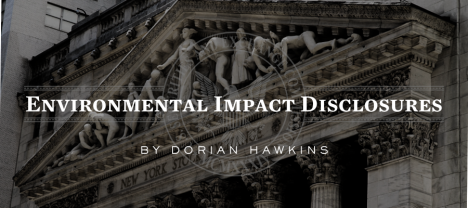 Dorian Hawkins - Environmental Impact Disclosures