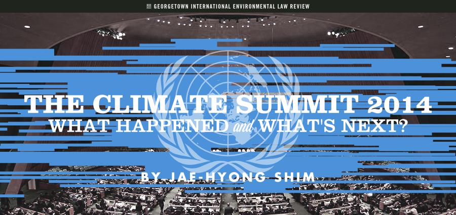 Jae-Hyong Shim - Climate Summit