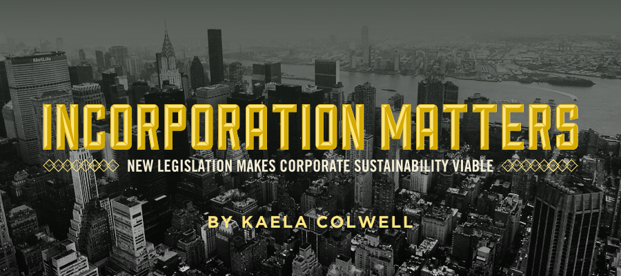 Kaela Colwell - Incorporation Matters