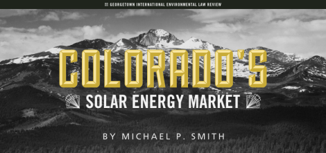 Michael P Smith - Colorado's Solar Energy Market v02