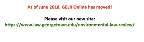 syndicate articles georgetown environmental law review